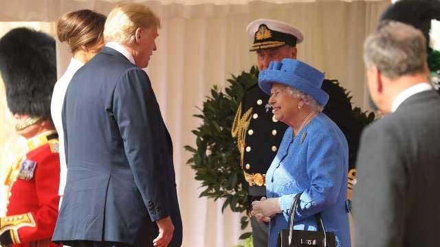Donald Trump meets Britain's Queen Elizabeth at Windsor Castle