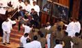 শ্রীলঙ্কার পার্লামেন্টে মরিচবাঁটা, বই-চেয়ার ছোড়াছুড়ি!