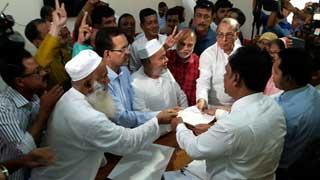 গাজীপুরে বিএনপির মেয়র প্রার্থীর মনোনয়ন দাখিল