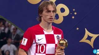 বিশ্বকাপের সেরা ফুটবলার মডরিচ