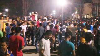 আন্দোলনকারীদের ধর্মঘটে উত্তাল রাজশাহী বিশ্ববিদ্যালয়