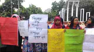DU students protest attack on quota demo