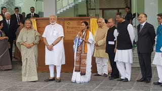Hasina, Modi unveil Bangladesh Bhaban at Shantiniketan