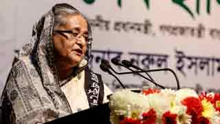 Hasina for greater practice of Bangla