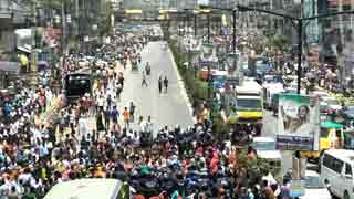 Garment workers protest for wages in Savar on May Day
