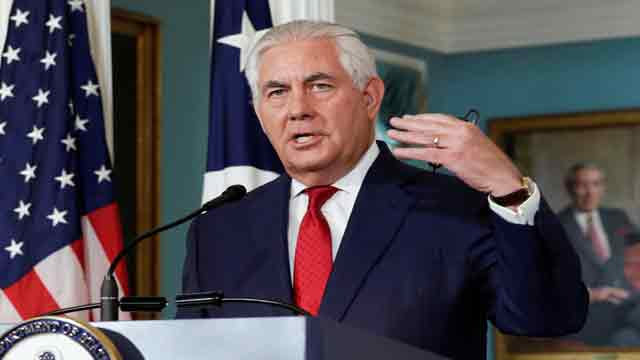 Tillerson joins int'l partnership against impunity for use of Chemical Weapons