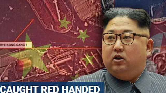 China spotted illegally selling oil to North Korea, report says