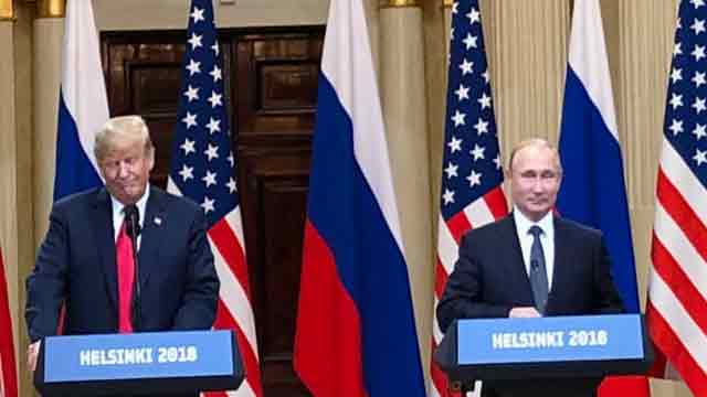 Trump declines to denounce Putin over election meddling