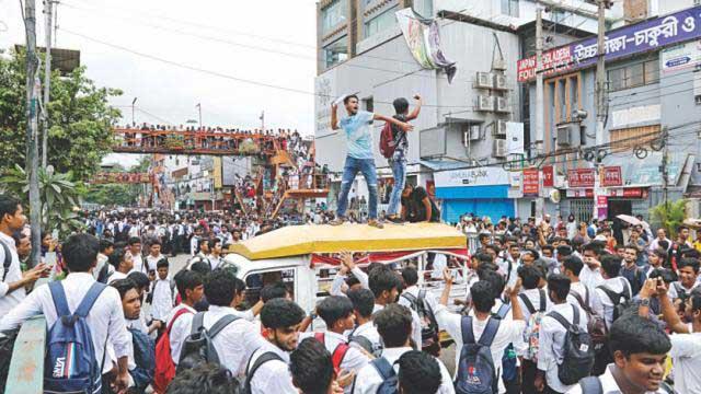 Angry teens paralyse Bangladesh  capital