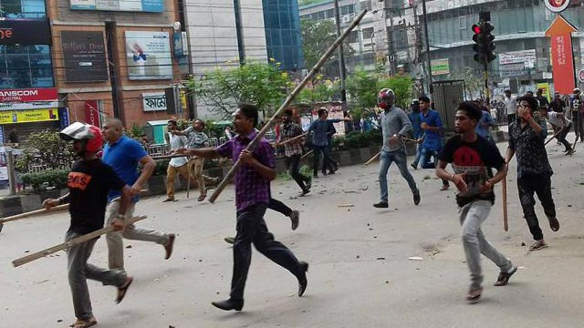Several injured as BCL men, cops attack students
