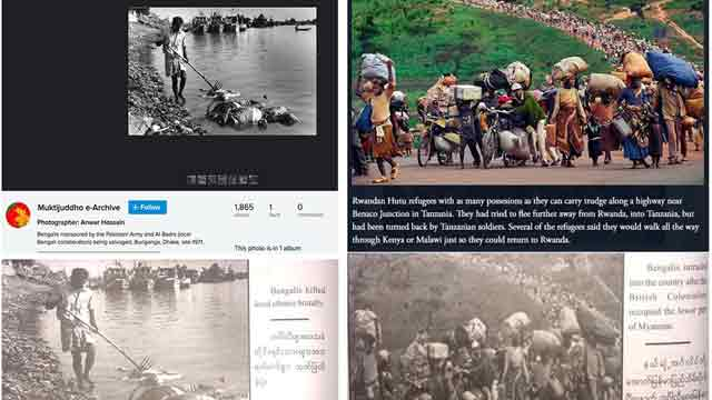 Fake photos in Myanmar army's 'True News' book on the Rohingya crisis