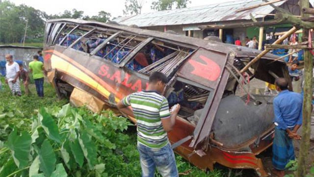 1 killed as train hits bus in Chittagong