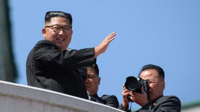 North Korea holds parade without ballistic missiles