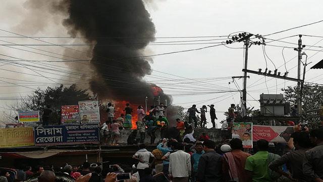 Fire burns Tejturi Bazar slum