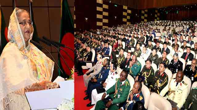 Hasina praises Armed Forces for contributing to dev works