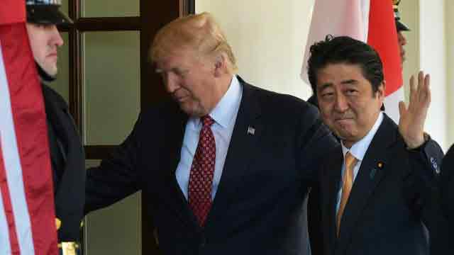 Trump speaks with Abe