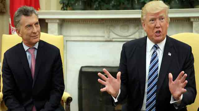 Trump speaks with President Mauricio Macri of Argentina