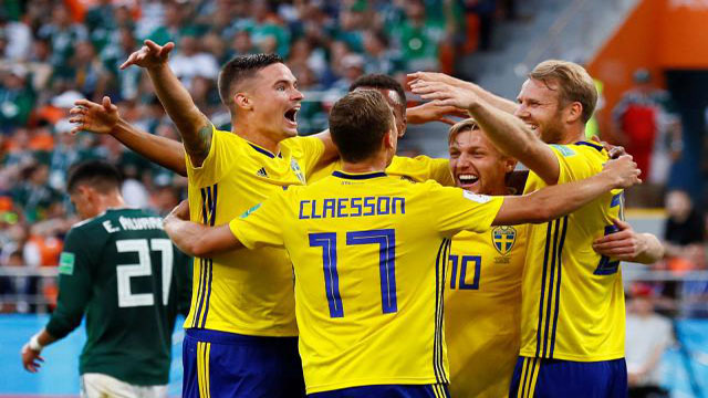 Sweden beat Mexico to Group F champions spot