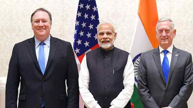 Secretary Pompe meets Indian Prime Minister Modi