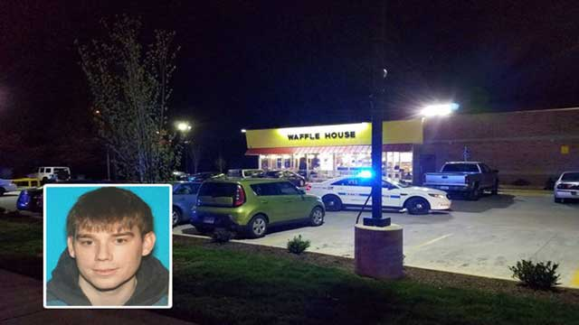 Nude gunman kills 4 at Tennessee waffle house