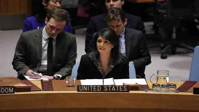 Ambassador Haley's remarks on Middle East situation