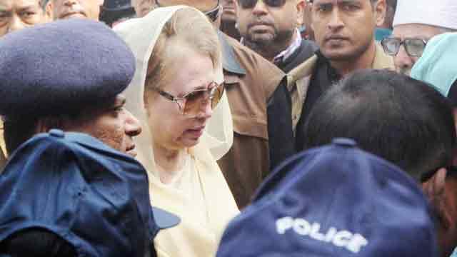 Khaleda Zia shown arrested in Comilla arson case