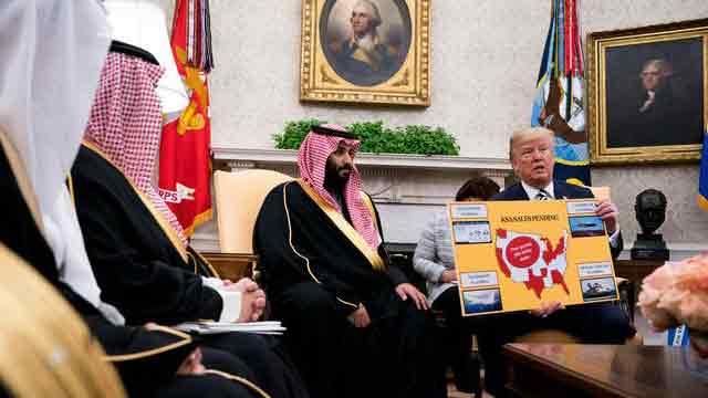 Trump meets Crown Prince Mohammed Bin Salman
