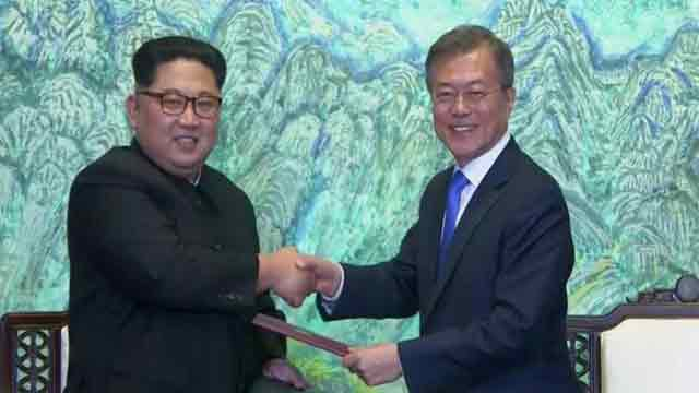 "Korean leaders aim for end of war, ""complete denuclearization"""