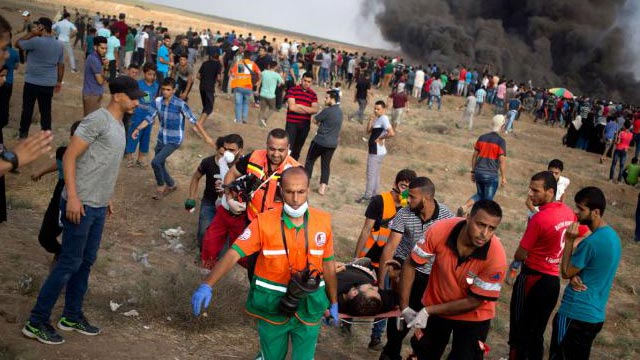 Israeli troops kill 1 protester in Gaza