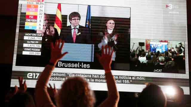 Puigdemont hails 'defeat' for Spanish state