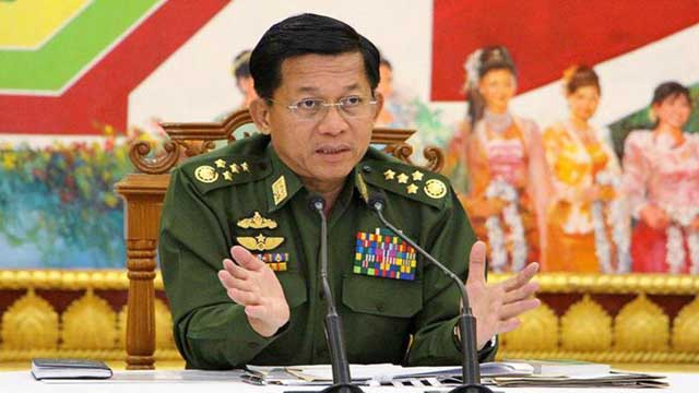 Citing Rohingya massacre, Myanmar army chief urges soldiers to obey law