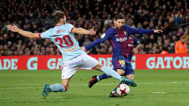 Messi fires Barca to Cup quarters