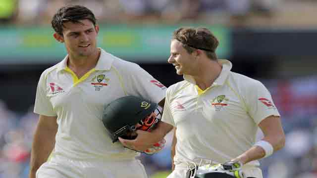 England Ashes hopes fade as Australia's Smith and Marsh put attack to sword