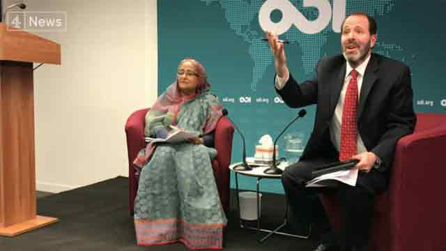 Hasina refuses to answer questions on human rights record