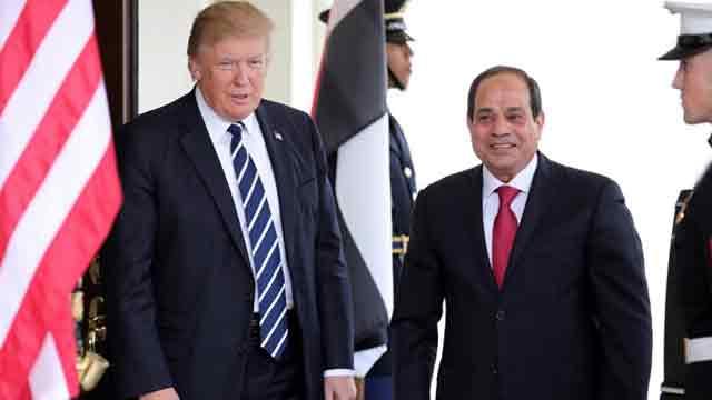 Trump speaks with Sisi