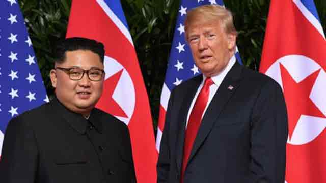 Trump shakes hands with Kim, hopes for 'terrific relationship'