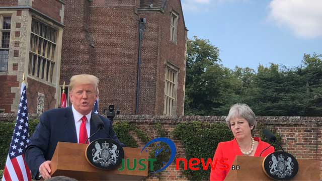 """Trump denies criticising May, accused The Sun for """"fake news"""""""