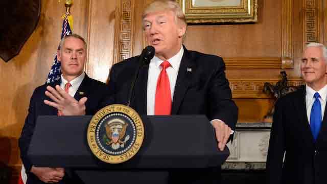 Trump talks withTheresa May