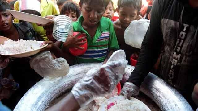 এক সপ্তাহের জন্য রোহিঙ্গা শরণার্থীদের খাদ্য সহায়তা বন্ধ