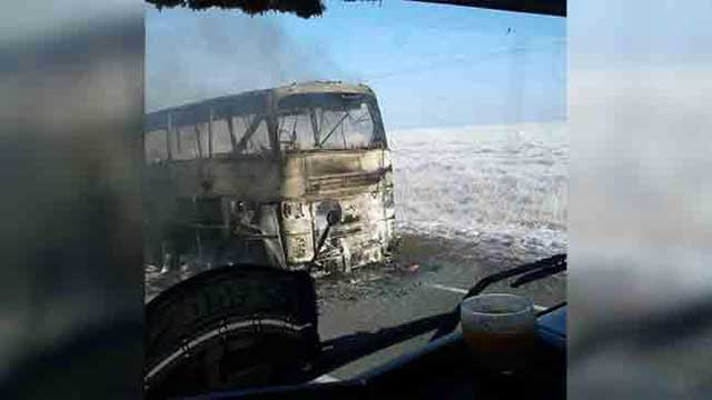 Bus catches fire in Kazakhstan, killing 52 Uzbeks