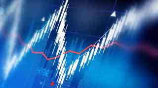 Share prices showing downtrend