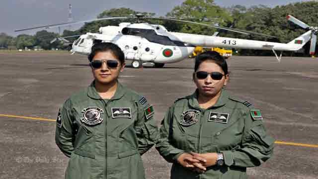 First BD female pilots join UN mission