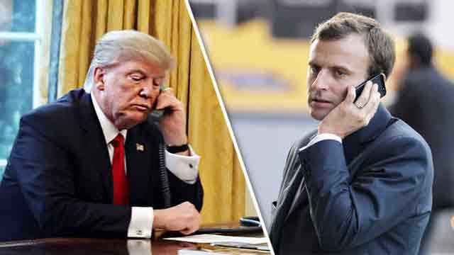 Trump calls Macron, discusses Middle East issue