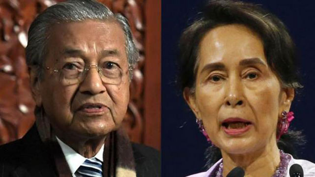 Mahathir slams Myanmar's Suu Kyi for handling of Rohingya
