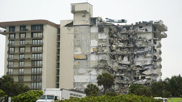 Nearly 100 people missing as Miami building collapses