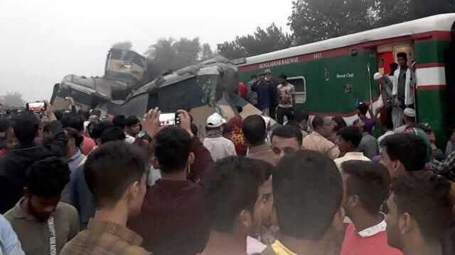Fatal train collision in Brahmanbaria; 15 dead, over 100 injured