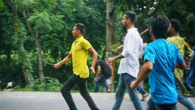 রাজশাহী বিশ্ববিদ্যালয়ে ছাত্রলীগের 'হাতুড়ি' তাণ্ডব