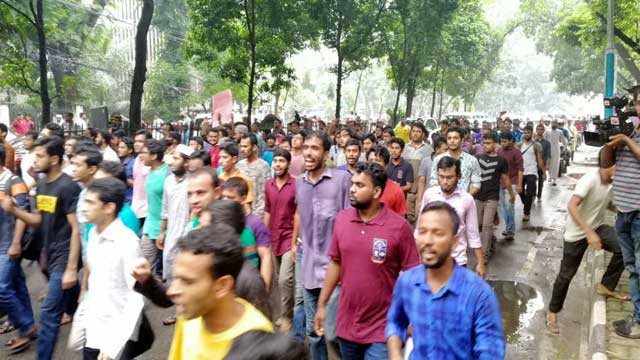 Abrar's death: Demonstrations staged at DU, BUET