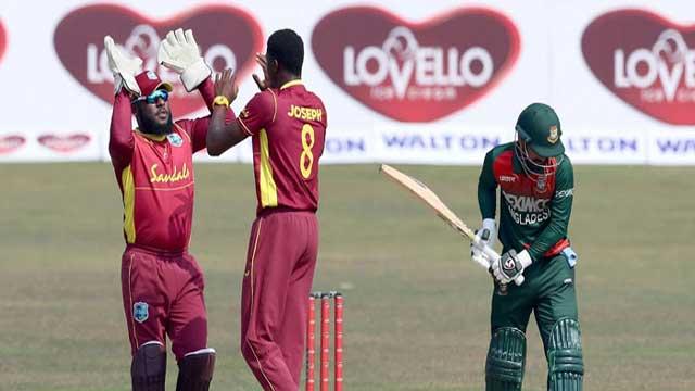 Bangladesh finish at 297/6 against WI