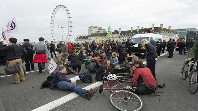 Nearly 300 arrests confirmed during first day of disruption in central London
